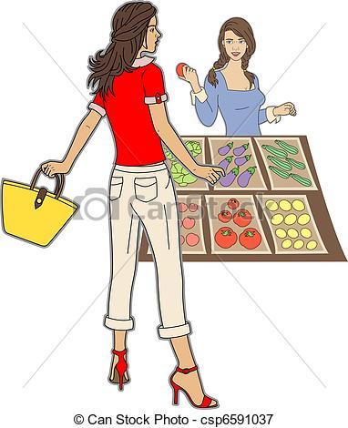 Vectors Illustration of Market.