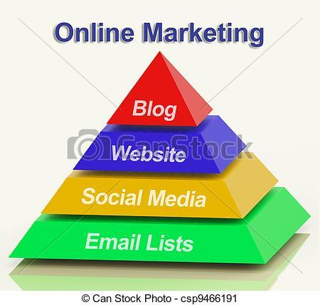 Internet marketing clipart.