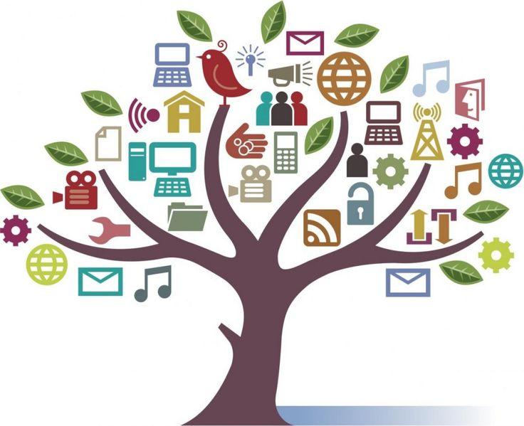 Digital marketing clipart.
