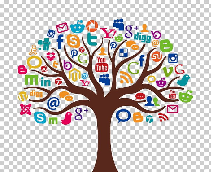 Social Media Marketing Icon PNG, Clipart, Area, Autumn Tree.
