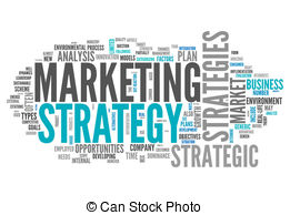 Clip Art of Marketing strategy word cloud.