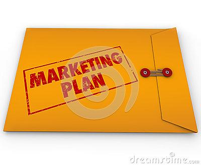 Confidential Marketing Plan Envelope Secret Strategy Stock Image.