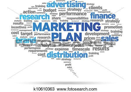 Clipart of Marketing Plan k10610363.