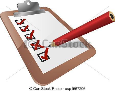 Clip Art Vector of Clipboard.