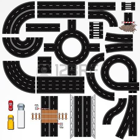 2,601 Road Markings Stock Vector Illustration And Royalty Free.