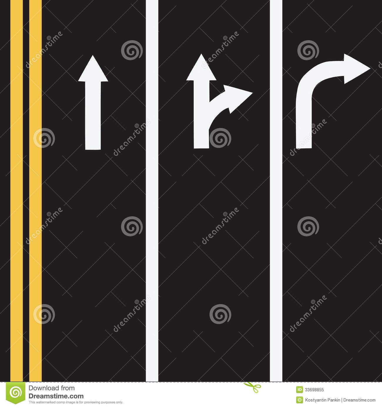 Road Markings Clipart.