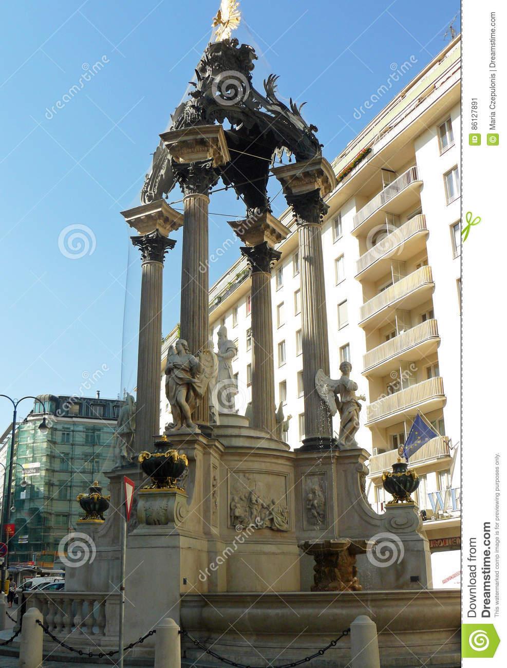 Fountain Vermahlungsbrunnen Editorial Photo.