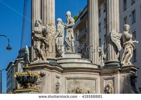 Baroque Trinity Statue Stock Photos, Royalty.