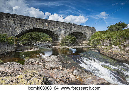 "Stock Photo of ""Old stone bridge across the Strath Beag River."