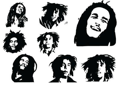 Bob Marley Silhouette.