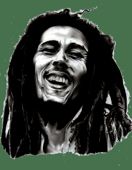 Bob Marley Clipart transparent PNG.