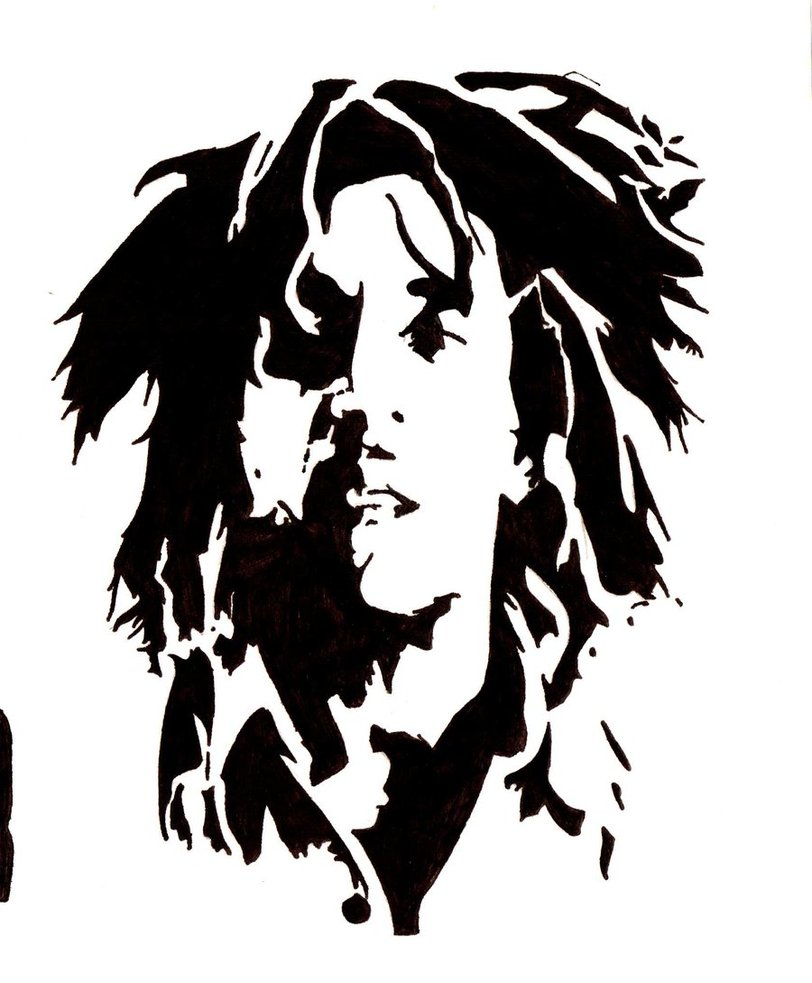 Bob marley cartoon clipart.