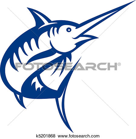 Stock Illustration of Blue marlin k1471497.