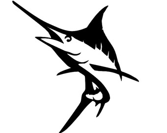Free Marlin Clipart Black And White, Download Free Clip Art.