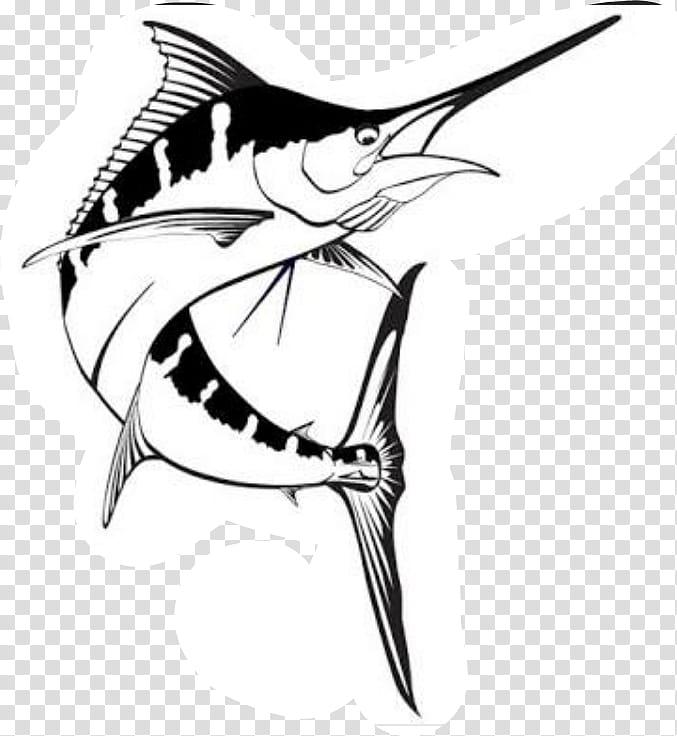 Pencil, Marlin, Drawing, Billfish, Atlantic Blue Marlin.