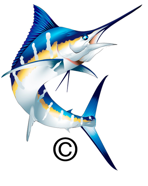 Blue Marlin Clipart For Free.