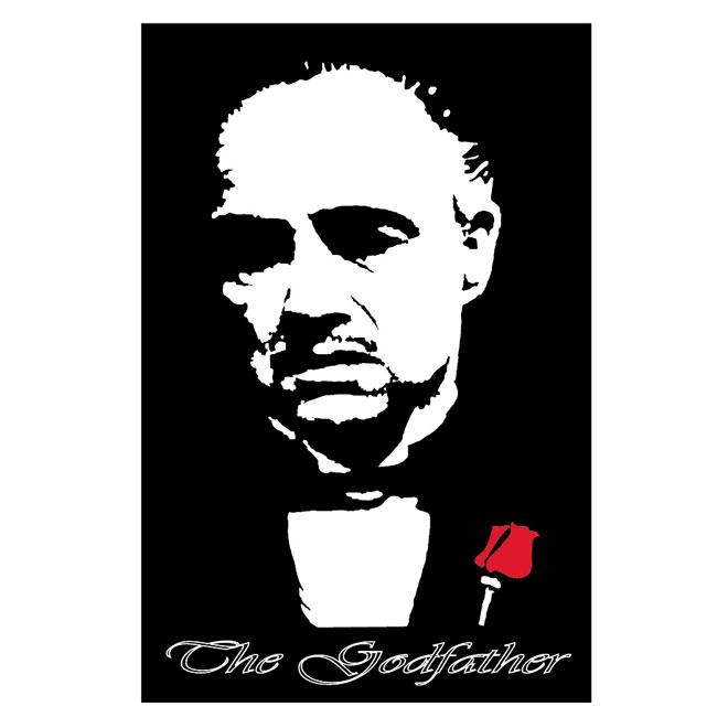 Godfather Marlon Brando Free Vector.