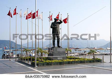 "Stock Photo of ""Mustafa Kemal Atatuerk statue, Marmaris, Provinz."