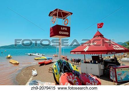 Stock Image of beach, Marmaris, Turkey, Western Asia. zh9.