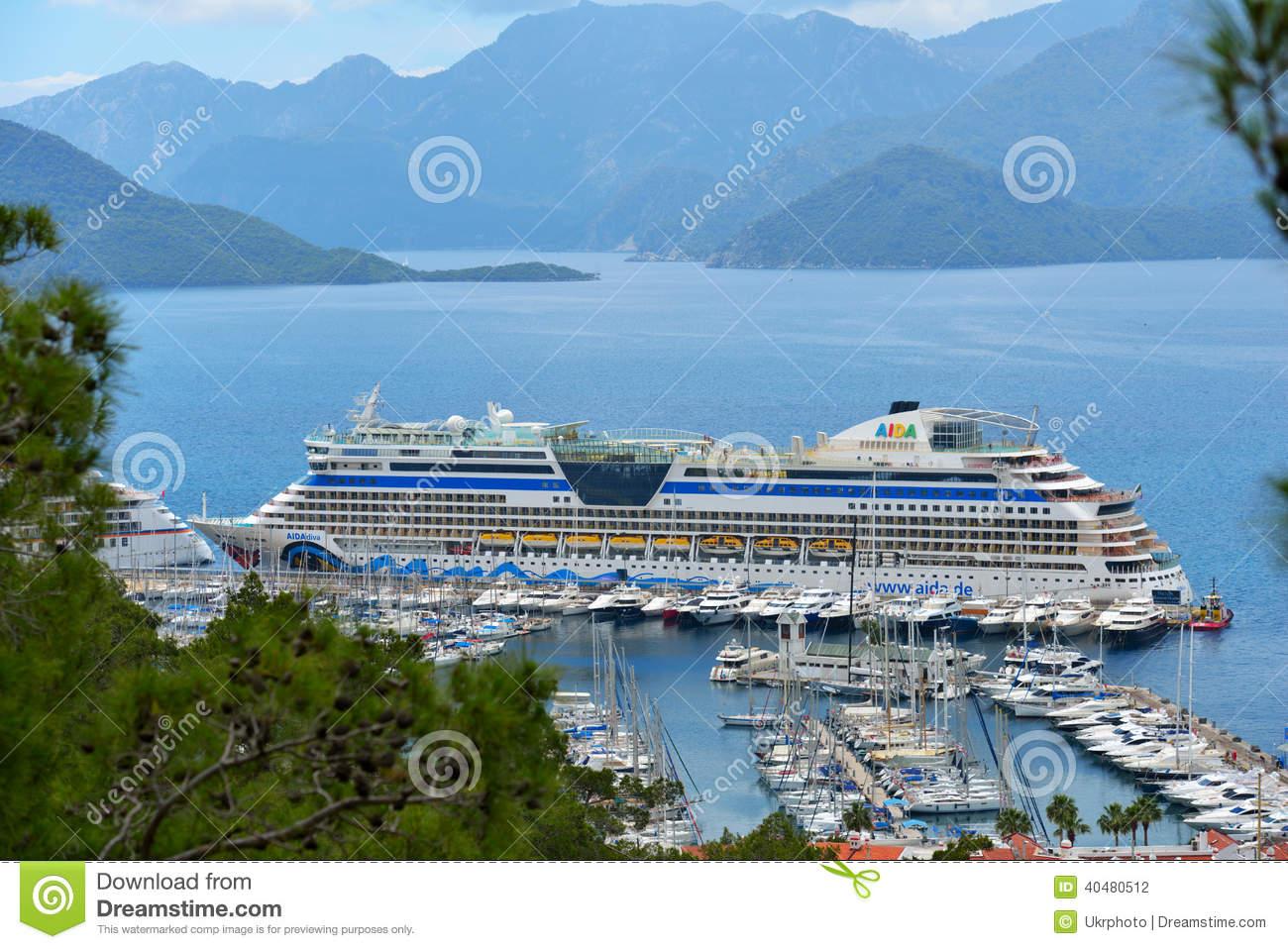 Cruise Ship AIDAdiva In Marmaris, Turkey Editorial Photography.