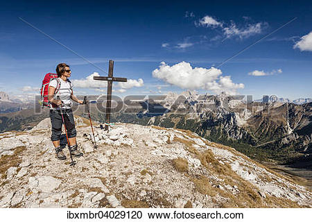 "Stock Photography of ""Mountaineer during the ascent to Cima."