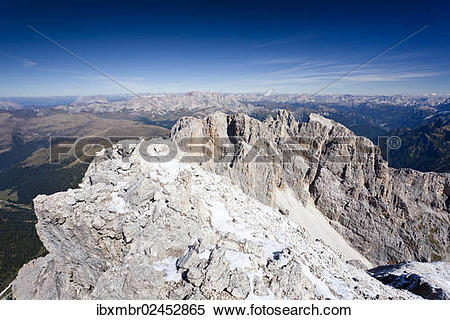 "Stock Image of ""Summit of Cima Vezzena Mountain in the Pala Group."