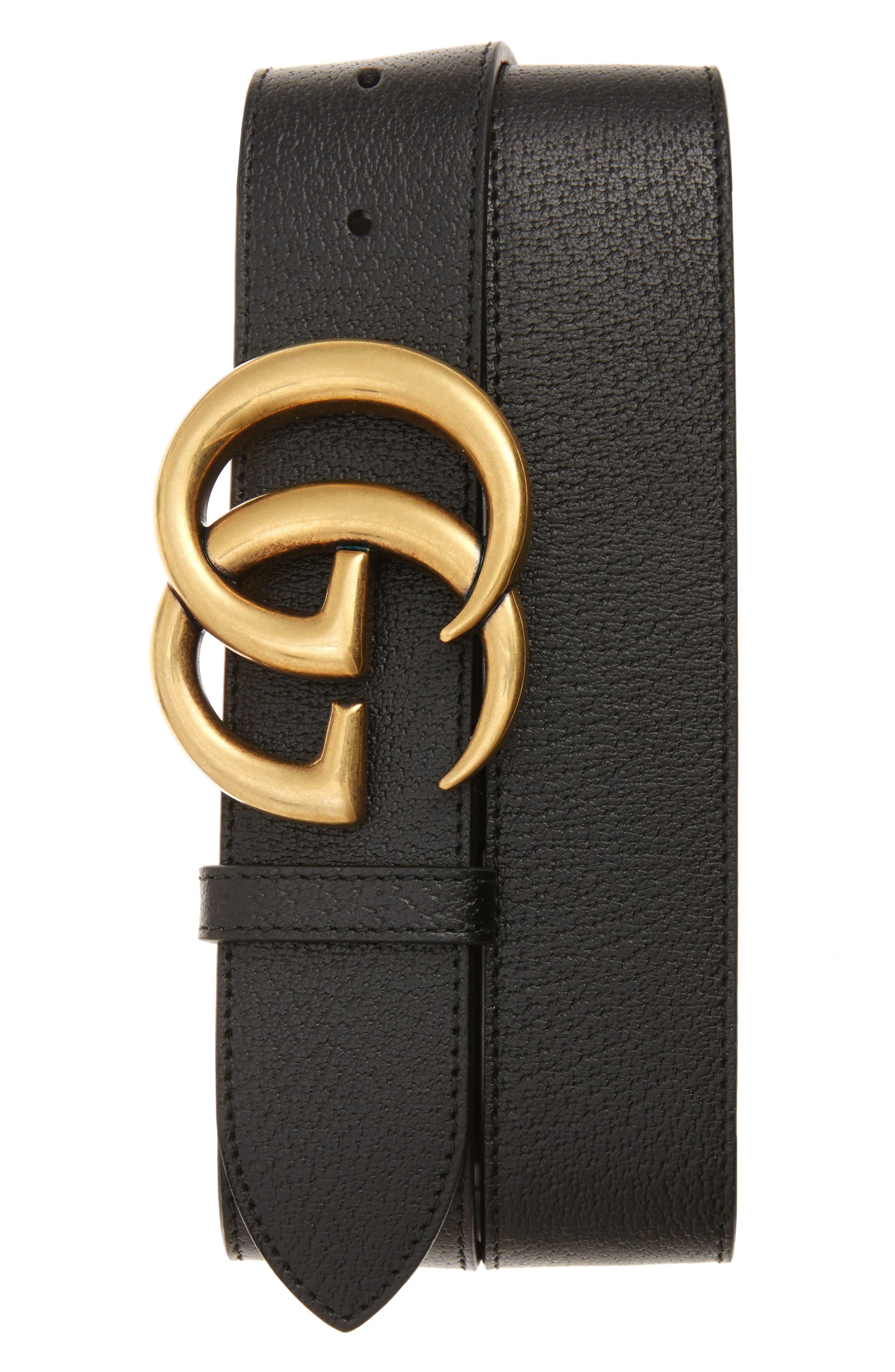 Gucci Marmont Logo Leather Belt.