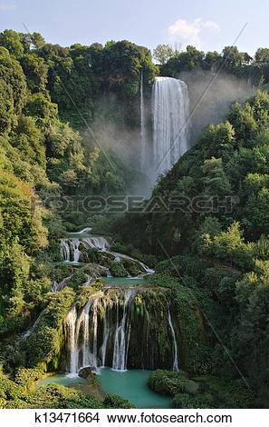 Stock Photo of Cascata delle Marmore 01 k13471664.