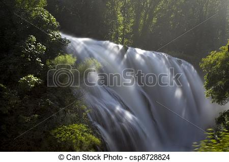Stock Photo of Landscape of cascade of Marmore Terni Umbria Italy.