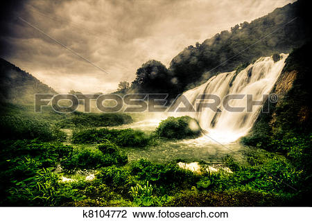 Stock Photo of Marmore waterfalls k8104772.