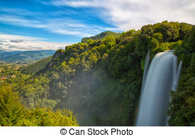 Stock Images of waterfall Cascata Delle Marmore Terni, Umbria.
