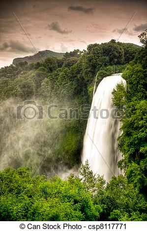 Stock Photography of Marmore waterfalls (Cascate delle Marmore.