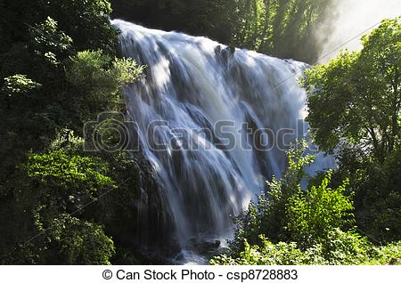 Stock Photos of Landscape of cascade of Marmore Terni Umbria Italy.