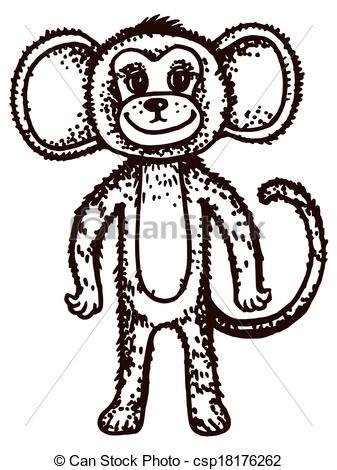 Clip Art Vector of marmoset.
