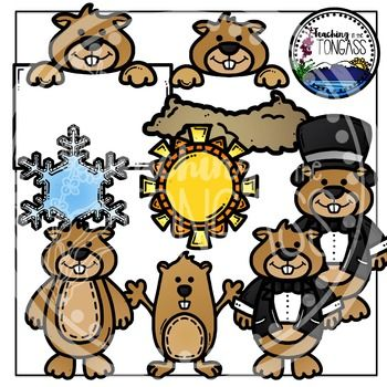 Groundhog Day Clipart Bundle.