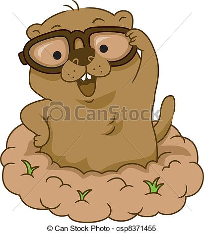 Clipart Vector of Groundhog Day.