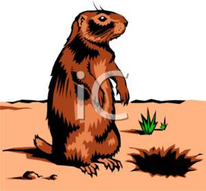 Clipart Illustration of a Perked.