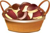 Chestnut Clip Art.