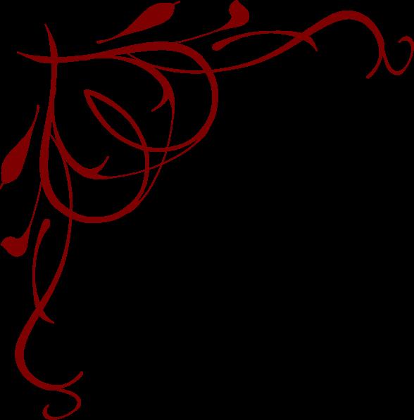Burgundy Line Clipart.