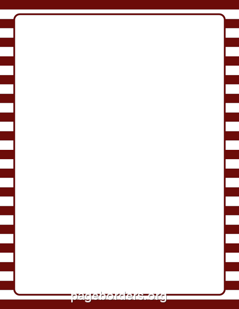 Maroon and White Striped Border: Clip Art, Page Border, and.