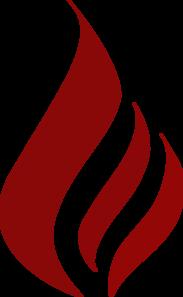 Maroon Flame Clip Art at Clker.com.
