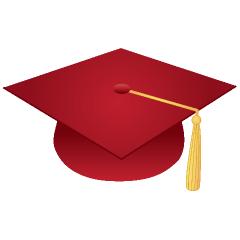 Maroon Graduation Cap Clipart.