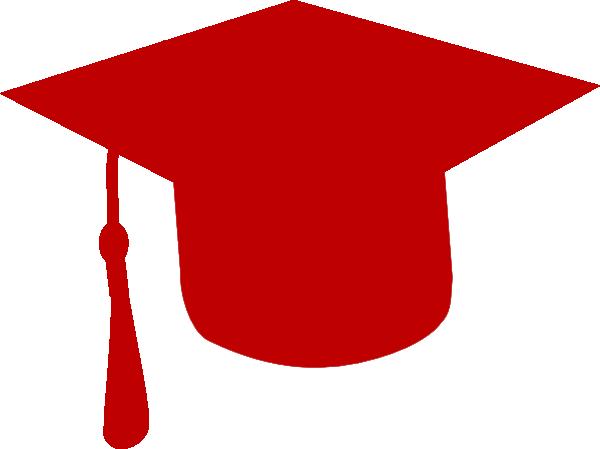 Red Graduation Cap Clip Art.