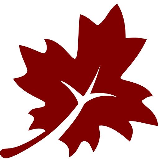 Free maroon leaf 3 icon.