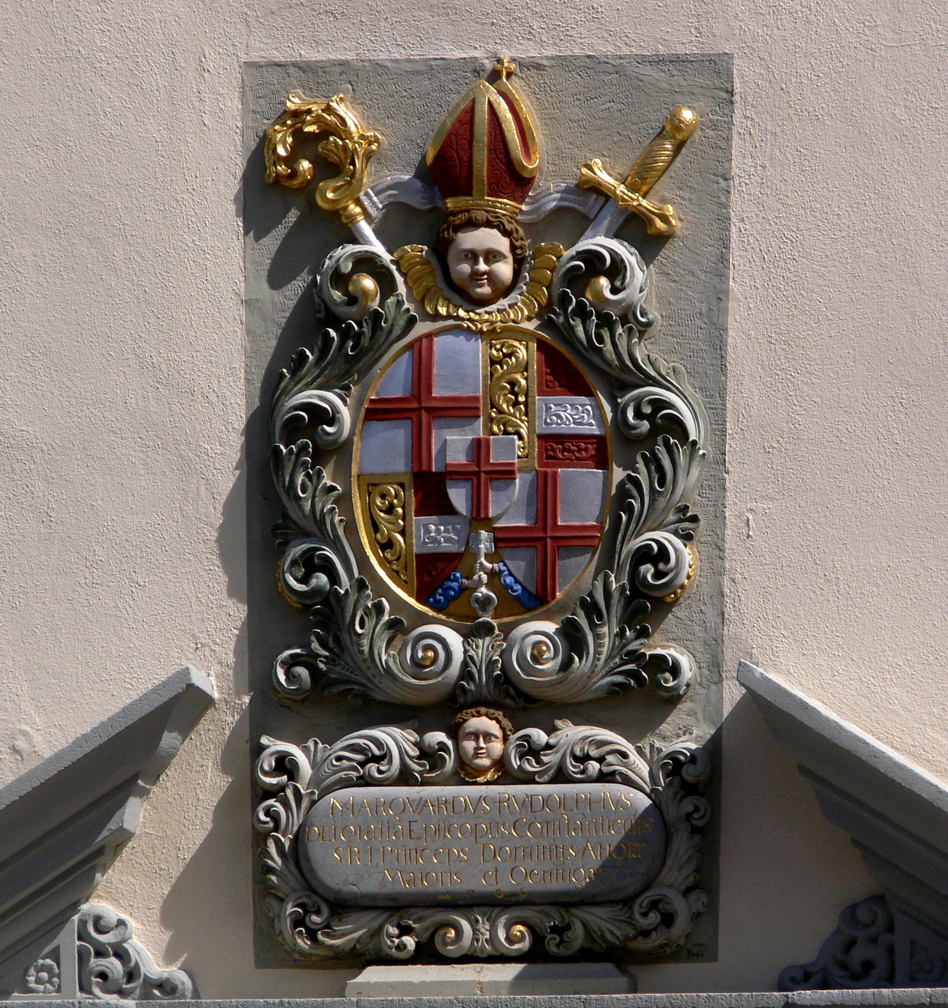 File:Meersburg Schlossplatz Pfarrhof Wappen Marquard Rudolph von.