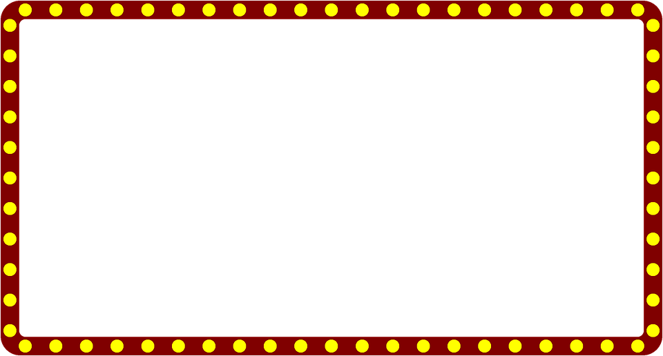 Marquee Lights Border Clipart.