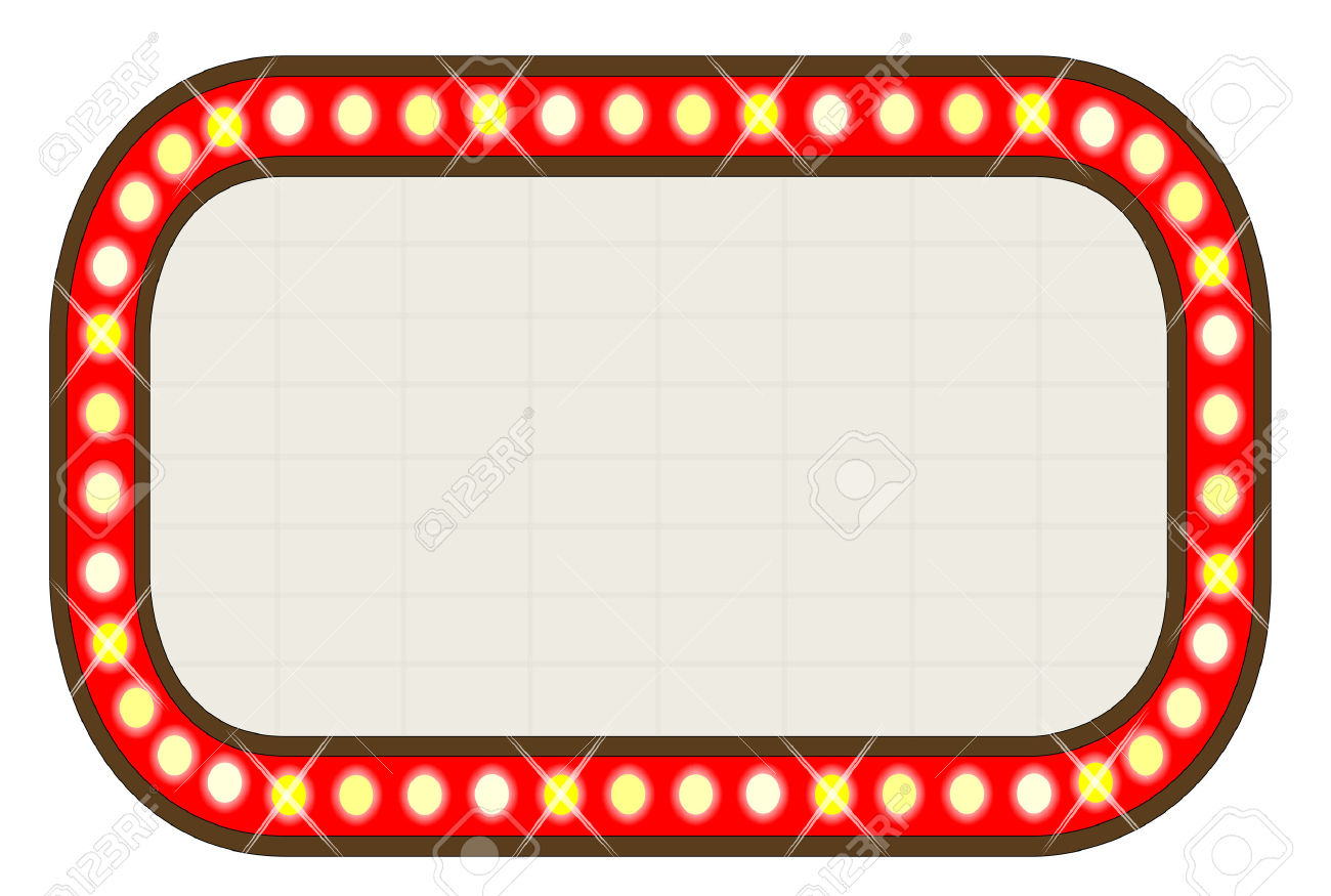 Broadway Lights Border Clipart Marquee clipart - Clip...