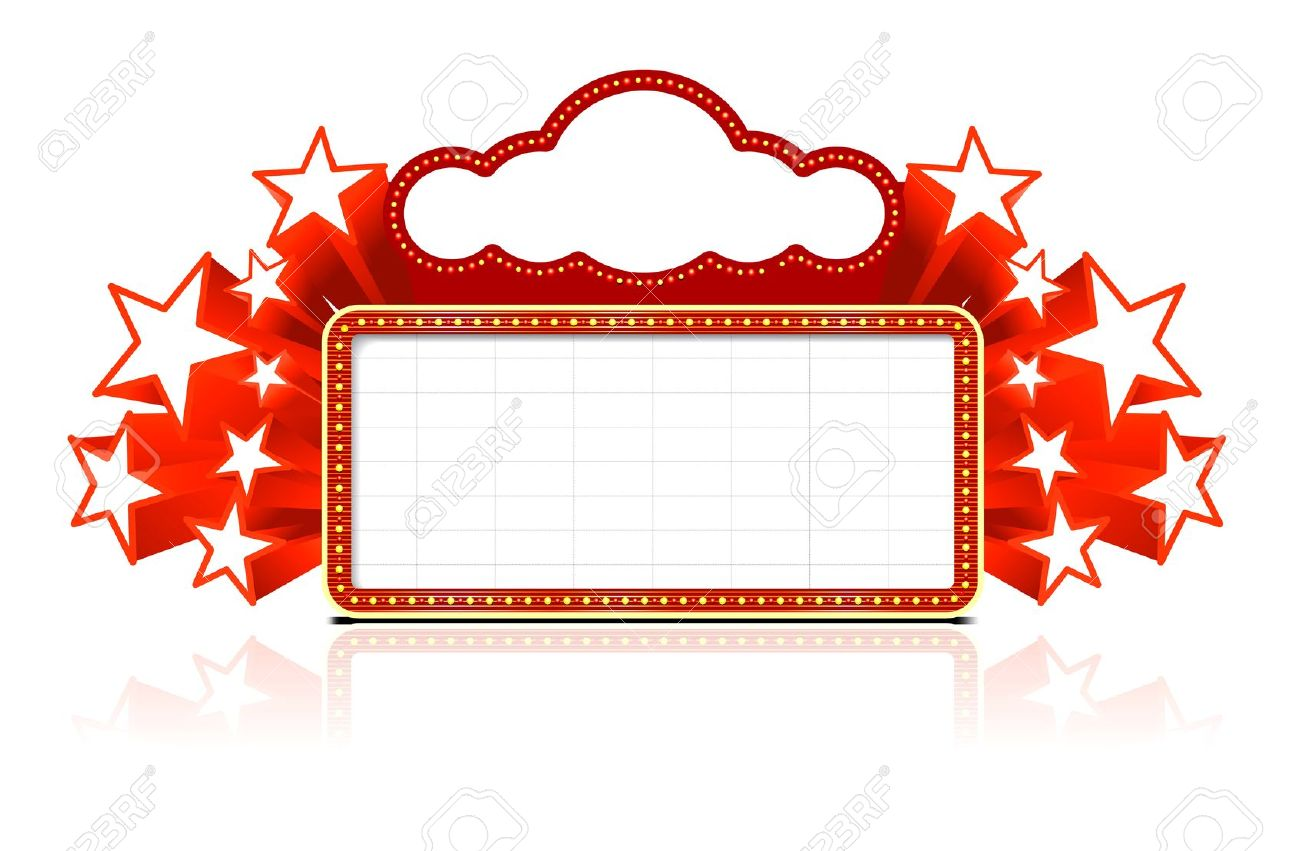 Marquee clipart clipground for Theatre sign clipart