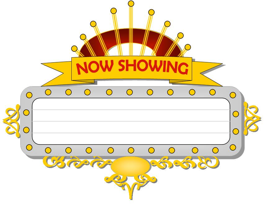 Movie Marquee Clipart.