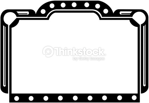 Marquee clipart black and white.